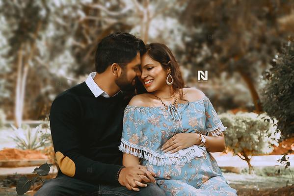Gorgeous portrait of a pregnant couple