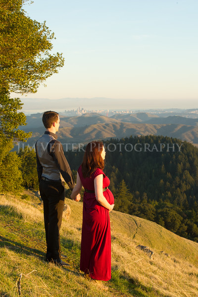 Mountain Maternity Photos of Julia and Peter