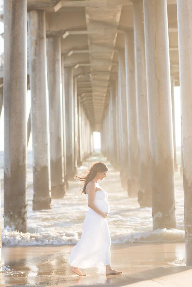 Dena & Zach Huntington Beach Maternity Session by KLK Photography