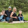 family on the blanket shot