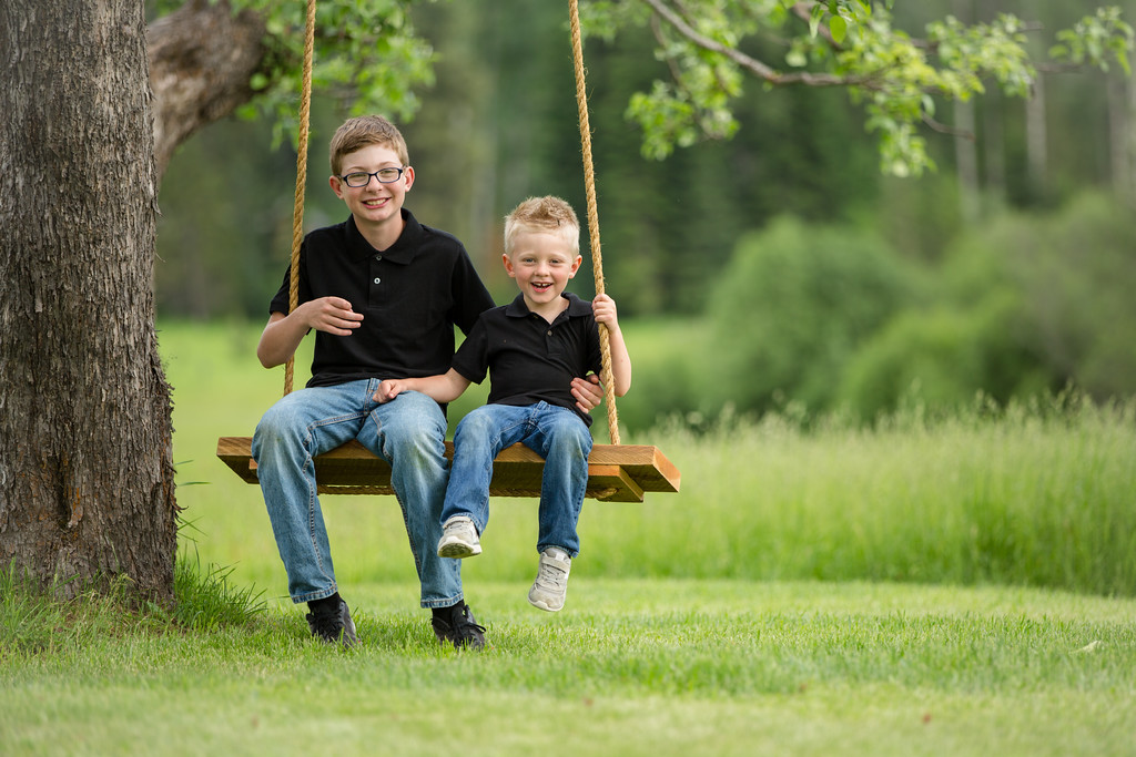 The boys on the swing