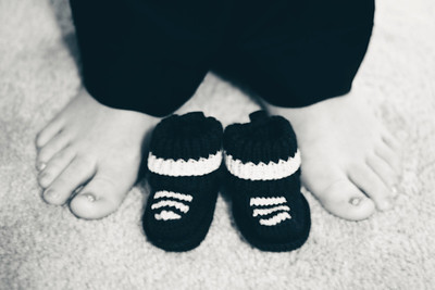 Baby shoes and mommy feet!