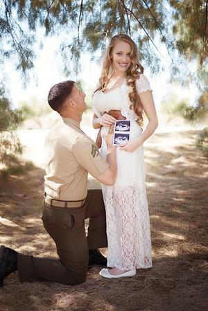 Rochelle Pregnancy Announcement - Twentynine palms, CA |Oh! MG Photography, CA