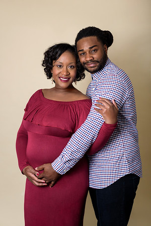 Cincinnati Maternity Photographer for black African American couple