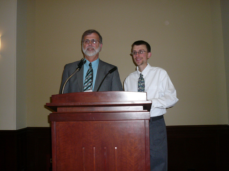 Dr. Turner and Dr. Zoller after the banquet
