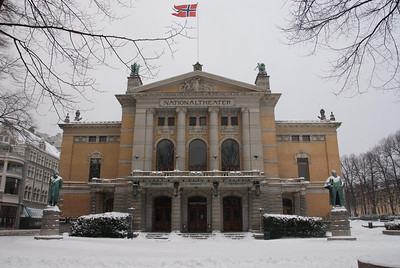 The National Theater in Oslo.