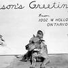 246 - garage door Christmas card