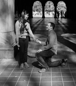 down on one knee, both shoe laces broken :)