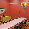 The party room before the kids arrived.