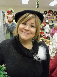 Tracy - don't ya just love her cute little beret??  Such a wonderful French look!