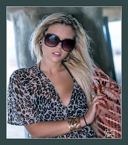 Model Neesy at bikini beach photo shoot - Asbury Park, NJ