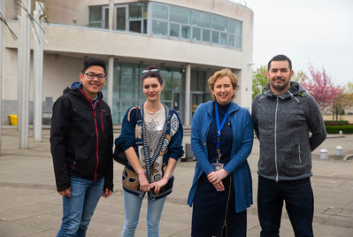 Pictured at Waterford Institute of Technology a the Mature Student Taster Day. Pictured are Man Kim Waterford city, Sylvia Downey Tramore, Ruth Treacy from Student Life Learning WIT and David Alan Tramore. Picture: Patrick Browne