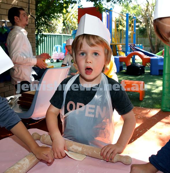 Matzah Bakery at Hug A Bub. Ruben Pryor-Korn. Pic Noel Kessel.