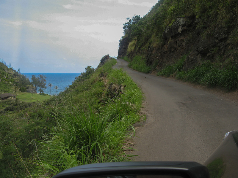 Drive around the north side of the island. One lane road with *big* drop offs.