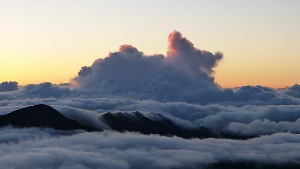 Minutes from sunrise at Haleakala