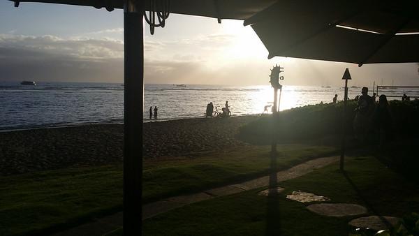 Beach view from Duke's restaurant