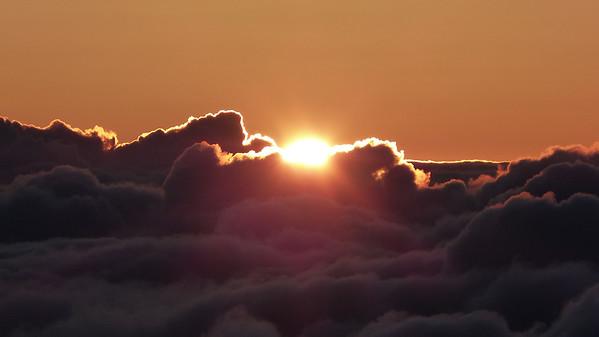 Sunrise over Haleakala volcano