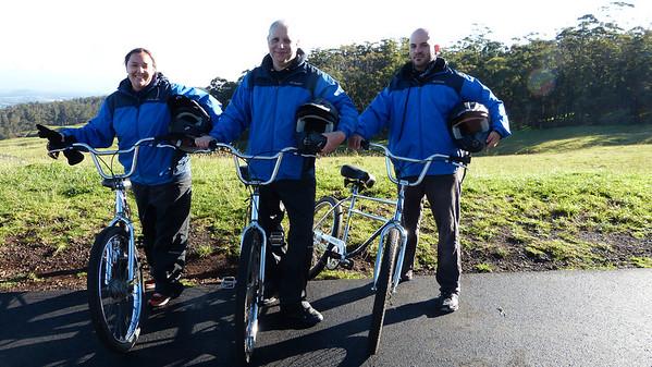 Anna, Joe & David during a break from Haleakala bike ride