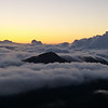 Haleakala volcano at sunrise