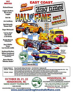 ( The East Coast Drag Times Hall of Fame web pages are here: http://eastcoastdragtimeshalloffame.com/2017-east-coast-drag-times-hall-of-fame-car-show-sat-oct-21-2017/ )