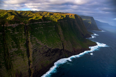 Moloka'i cliff from above