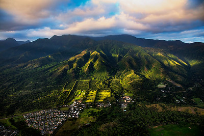High mountain of Maui from above, Maui, Hawaii