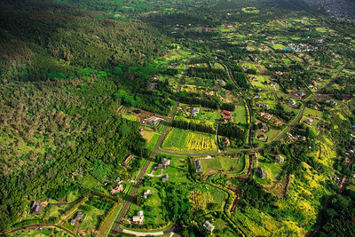 Aerial view of Maui farmlands, Hawaii