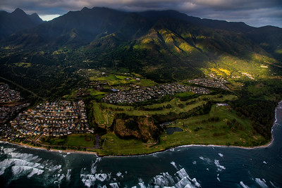 Maui coast from above, Hawaii