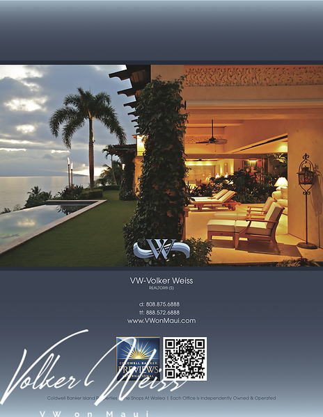 """Page 4 of the brochure for 38 Uweloa Place, Papaanui Makena, Makena, Hawaii. Makena Homes and Makena Real Estate including Papaanui Makena in South Maui are viewed best at VWonMaui. """"VW"""" is Volker Weiss, the Maui Real Estate Agent."""