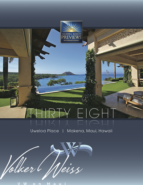 "Page 1 of the brochure for 38 Uweloa Place, Papaanui Makena, Makena, Hawaii. Makena Homes and Makena Real Estate including Papaanui Makena in South Maui are viewed best at VWonMaui. ""VW"" is Volker Weiss, the Maui Real Estate Agent."