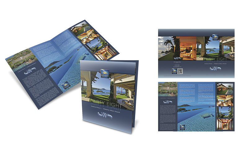 """3D brochure layout for 38 Uweloa Place, Papaanui Makena, Makena, Hawaii. Makena Homes and Makena Real Estate including Papaanui Makena in South Maui are viewed best at VWonMaui. """"VW"""" is Volker Weiss, the Maui Real Estate Agent."""