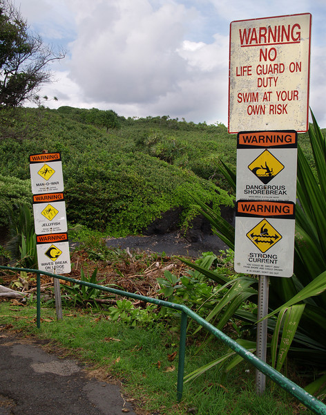 "<p></p><div id=""centered_description"">Six Warning Signs, Wai'anapanapa</div>"