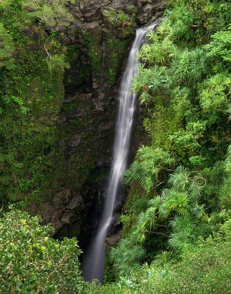 "<p></p><div id=""centered_description"">Puokokamoa Falls, Hana Highway </div>"