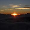 Sunrise over the clouds at Mt. Haleakala