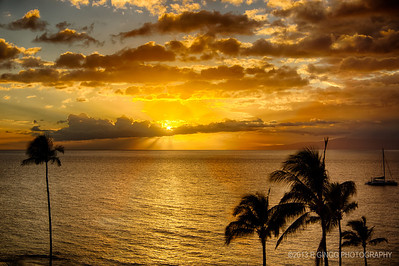 Sunset from Lanai Life is good.