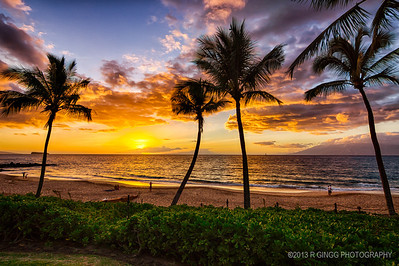 Makena Beach another sunset in Paradise