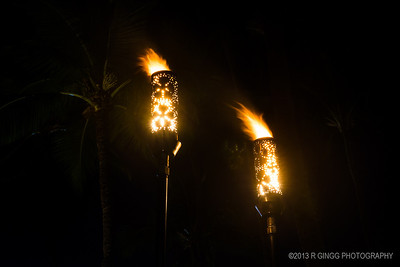 Makena Beach and Golf Resort Tiki Torches
