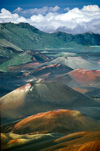 Looking into the crater of Haleakala, the largest dormant volcano in the world.