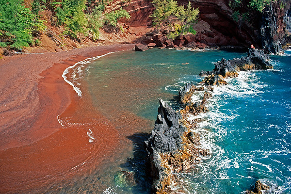 Kaihalulu Red Sand Beach, Maui, Hawaii