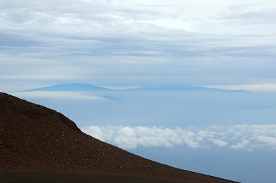 View of mountain tops on the big island of Hawai'i