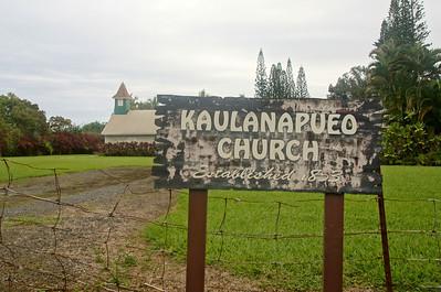 Kaulanapueo Church built in 1853