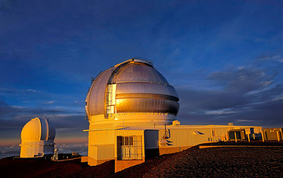 From the left are, Canada-France-Hawaii Telescope and the Gemini Telescope