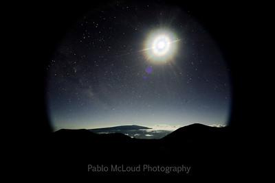 Moon Over Mauna Loa