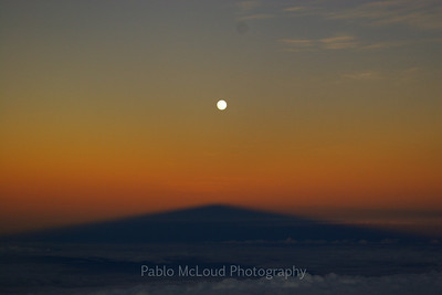 The majesty of the full moon and Mauna Kea's shadow.