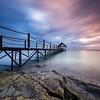 Mauritius; Seascape; Landscape; Sea; Rocks; Clouds; Sunset;Pier
