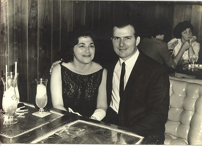 Gabe Sr & Betty at Pat O'Brien's, no date.