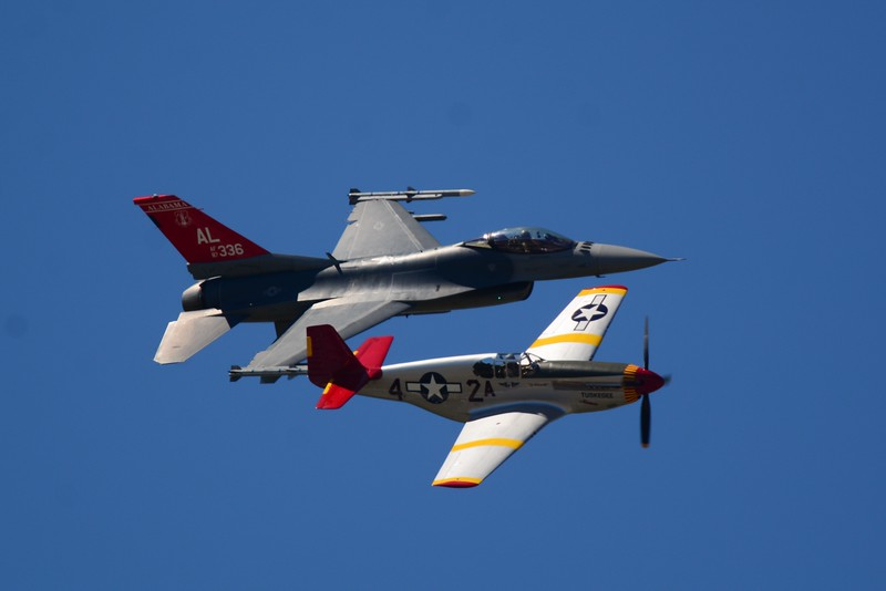 And the show begins with a tribute our very Tuskegee Airmen of yesterday, today and the future!