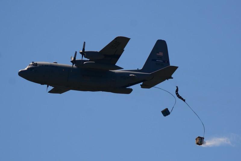 The Hercurlese C-130 drop demo