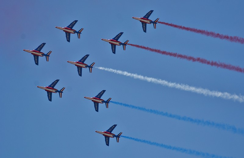 The French Air Force's Petrouilli de France demo team.