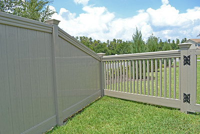 Adobe Streaked Lakeland Fence with Maxwell Rail and Custom Sacramento Fence